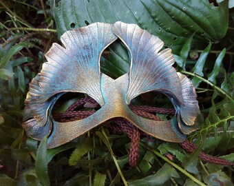 Leather Gingko Leaf Mask