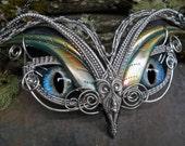 Gothic Steampunk Large Owl Eye Necklace