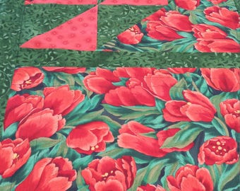 Red Tulip Table Runner
