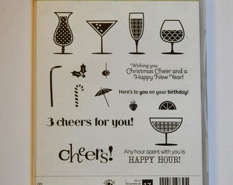 Happy Hour Stampin' Up! Stamp Set of 17 Stamps - NEW