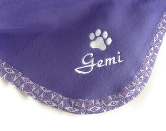 Pet  Blanket  Personalized  Purple