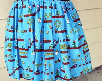 Medium Ready to Ship Super Mario Brothers Skirt