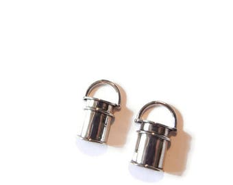 Pair of Bucket or Pail Charms Silver-tone