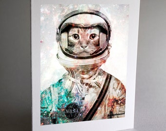 Outer Space Cards, Cat Cards, Cat Note Cards, Cat Note Card, Notecard, Thank You Card, Note Card, Note Cards, Handmade Cards, Card Set