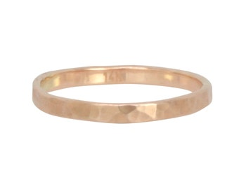 Engravable Rose Gold Ring 2mm Width Wedding Ring, Custom Order