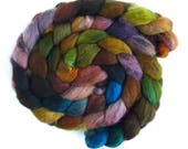 Second Quality Braids: Falkland Wool Roving - Hand Dyed Spinning or Felting Fiber Fiber, Set 11, 4 ounces