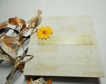 Wedding Mini Album, Mini Album, Scrapbook, Memory Book, 6x6 album, Chipboard Album, Brag Book, Photo Album, Wedding, Premade Album