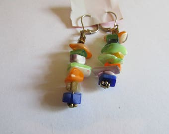 colorful shell dangles