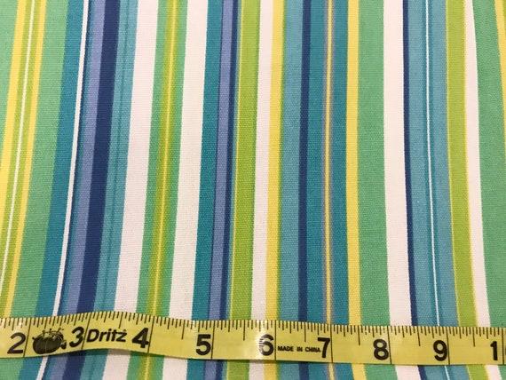 Stripe Blue Green And White: Umbrella Stripe Blue Green Yellow