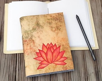 Pink Lotus Journal - inspire journal gift by tremundo