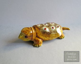 Turtle Ceramic Figurine,Turtle Figurine Collector,Porcelain Figurine,Turtle Porcelain Figurine,Turtle Animal Figurine,Turtle Miniatures