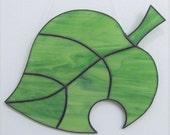 New Leaf Animal Crossing Stained Glass Suncatcher Fan-Based