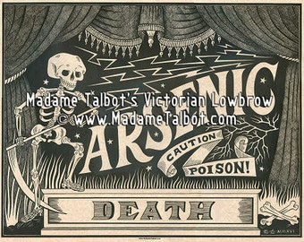 Madame Talbot's Victorian Lowbrow Arsenic Poison Label Poster