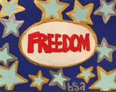 Freedom Hand Painted Notecard