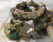 How Will I Know Jade Prehnite Mother of Pearl BOHO Wrap Rosary Asian bracelet
