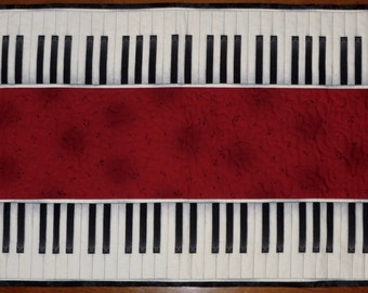 Quilted Piano Key Table Runner
