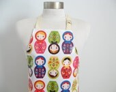 Laminated apron AGE 2-5 with pocket and matching placemat
