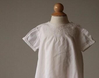 ON SALE 1940s Heirloom Batiste Cotton Dress~Size 6 Months