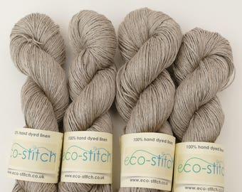 Natural linen 4-ply sport yarn, undyed, knitting crochet yarn.