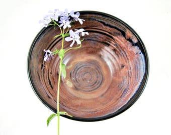 Stoneware pottery serving bowl, Handmade ceramic rustic bowl, Unique wedding gift - In stock 115 SB TBP