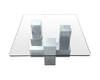 Free Shipping Vintage Chrome Coffee Table Mid Century Modern Paul Mayen for Habitat