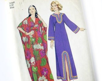Vintage Sewing Pattern - CAFTAN Maxi Dress - Simplicity 5315 / Size 8-10 Small