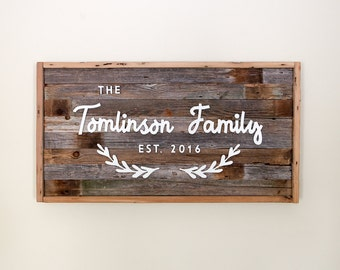 Family or Business Wood Sign
