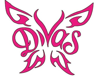 Divas WWE Vinyl Car Decal Bumper Window Sticker Any Color Multiple Sizes Jenuine Crafts