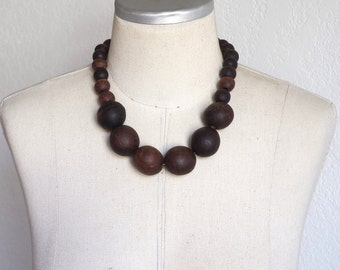 Chunky Wooden Necklace