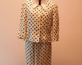 Vintage Dress - 60s Perfect Polka Dot Suit NWT's