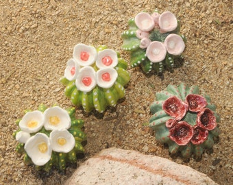 Handmade Desert Ceramic Green Cactus Plants