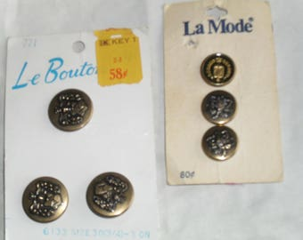Metal Goldtone Buttons