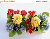 Miniature Polymer Clay Flowers Supplies Hyacinth for Dollhouse and Handmade Gifts, 1 pcs.