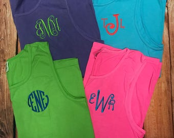 c4f569c9b444b Monogrammed Tank Top - Monogram Comfort Color Tank | Graduation Gift | Beach  Cover Ups | Wedding Party Gift | Sorority | Gift for Her
