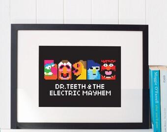 Dr. Teeth and the Electric Mayhem Cross Stitch Pattern