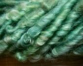 Handspun Lockspun Lincoln Longwool Textured Wool Bulky Art Yarn in Medium Green by KnoxFarmFiber for Knitting Crochet Weave Felt