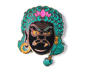 Fudō Myō-ō Hard Enamel Pin Collab with Tattooer Brian MacNeil