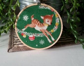 Christmas Hoop Art, Christmas decorations, Holiday Ornament, Hoop Art, Christmas Ornament, Decorations, Christmas Fabric,