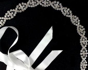 Art Deco Bridal Headband, Silver Bridal Tiara, Gatsby Wedding Tiara, Crystal Bridal Headpiece, Bridal Hair Jewelry, Bridal Halo, EUROPA