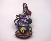 Teacup Sally - A Nightmare Before Christmas - Laser Cut Wood Brooch