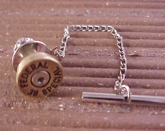 Bullet Tie Tack Federal 38 Special Recycled Repurposed