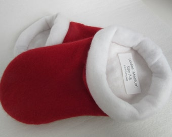 Christmas Red Cashmere Sweater Slippers - Ladies medium