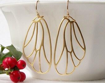 Butterfly Wing Dangle Earrings, Butterfly Jewelry, Wing Jewelry
