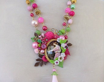 John Waterhouse assemblage necklace