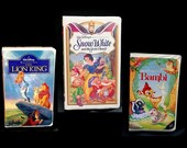 Lion King, Snow White, Bambi (Lot of 3) DISNEY VHS CLASSICS (Audio/Video in Like-New Condition) Completely Screened