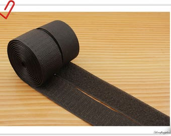 1 inch (2.5cm)  Dark brown Elcro strap Hook & Loop strap sew on fasteners 5 yards  MX9