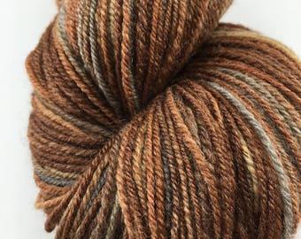 "Handspun Yarn Lace ""Precious Metals"" SW Merino Silk 290 yds."