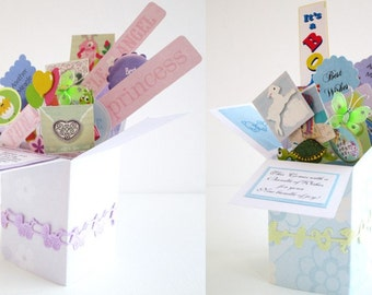 Baby Shower Mother to Be Greeting - Pop up Exploding Box for Boy or Girl Free Shipping in USA