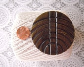 "Vintage 2 3/8"" XL Extra Large Celluloid Sewing Button Brown Plastic Button"