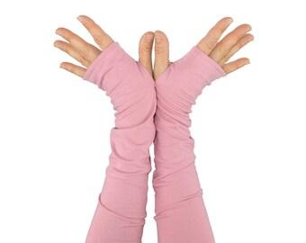 Arm Warmers in Rose - Pink - Fingerless Gloves - Sleeves